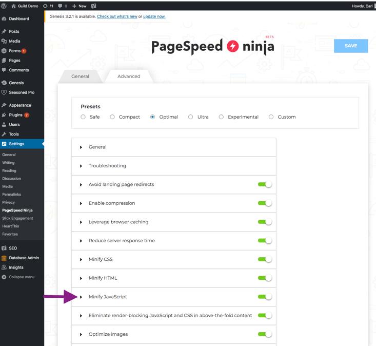 PageSpeed ninga - step 15