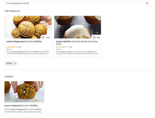 detailed view muffins