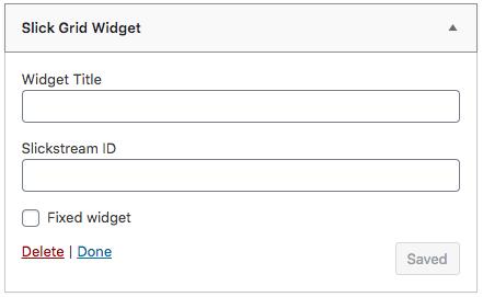 Slick Grid Widget