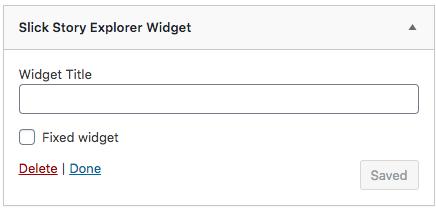 Slick Story Explorer Widget
