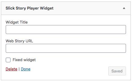 Slick Story Player Widget