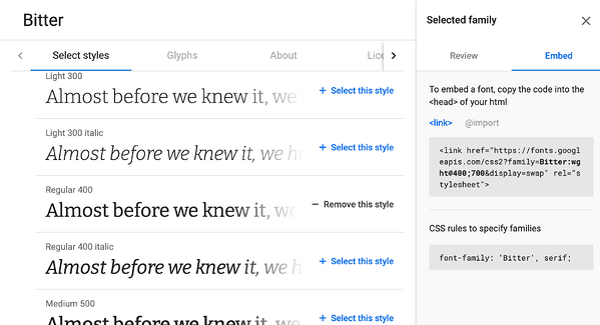 google-font-style